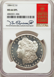 1884-CC S$1 Morgan Dollar NGC MS66DML