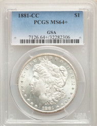 1881-CC S$1 Morgan Dollar PCGS MS64+