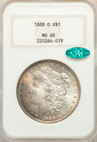 1888-O S$1 Morgan Dollar NGC MS65 CAC