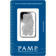 1 oz PAMP Suisse Fortuna Platinum Bar (New w/ Assay)