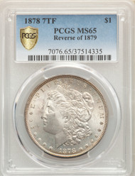 1878 7TF S$1 Morgan Dollar PCGS MS65 Reverse of 1878 - 741926005
