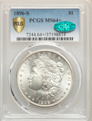 1896-S S$1 Morgan Dollar PCGS MS64+ CAC - 907102023