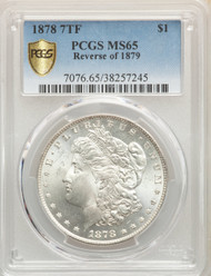 1878 7TF S$1 Morgan Dollar PCGS MS65 Reverse of 1879 - 512559015