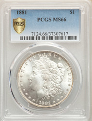 1881 S$1 Morgan Dollar PCGS MS66 - 741043003