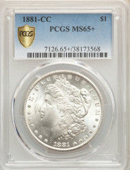 1881-CC S$1 Morgan Dollar PCGS MS65+