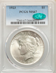 1923 S$1 Peace Dollar PCGS MS67 CAC