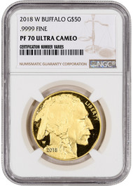 2018 $50 Proof Gold Buffalo NGC PF70 UCAM