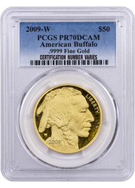 2009 $50 Proof Gold Buffalo PCGS PR70 DCAM
