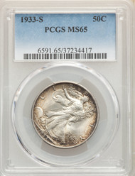 1933-S 50c Walking Liberty Half Dollar PCGS MS65