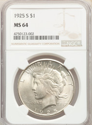 1925-S S$1 Peace Dollar NGC MS64 - 301282003