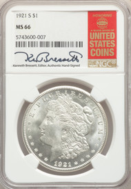 1921-S S$1 Morgan Dollar NGC MS66