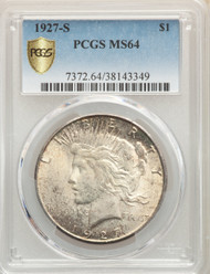 1927-S $1 Peace Dollar PCGS MS64