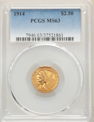 1914 $2.5 Gold Indian PCGS MS63 - 512558020