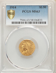 1914 $2.5 Gold Indian PCGS MS63 - 301260001