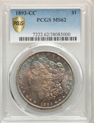 1893-CC S$1 Morgan Dollar PCGS MS62 - 296927001