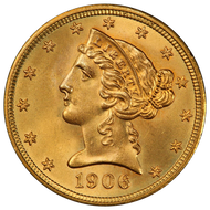 $5 Gold Liberty Brilliant Uncirculated - BU - Random Date