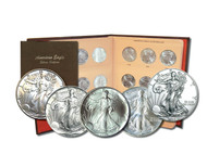 1986-2019 Complete Silver Eagle Set Brilliant Uncirculated - Dansco Album
