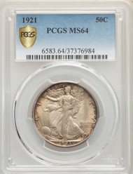 1921 50c Walking Liberty Half Dollar PCGS MS64 - 298571018