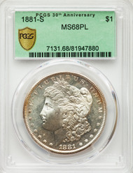 1881-S S$1 Morgan Dollar PCGS MS68PL
