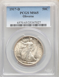 1917-D 50c Walking Liberty Half Dollar PCGS MS65 - 742232003
