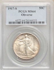 1917-S 50c Walking Liberty Half Dollar PCGS MS64