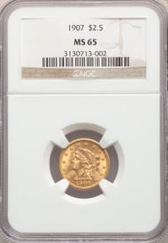 1907 $2.5 Gold Liberty NGC MS65 - 742313164
