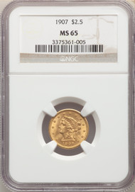 1907 $2.5 Gold Liberty NGC MS65 - 742313165