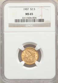 1907 $2.5 Gold Liberty NGC MS65 - 742313169