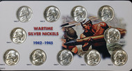 1942-1945 Wartime Silver Nickels Choice BU (11-Coin Set)