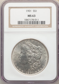 1901 S$1 Morgan Dollar NGC MS63 - 298571029
