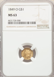 1849-O G$1 Gold Liberty Head NGC MS63 - 298501055