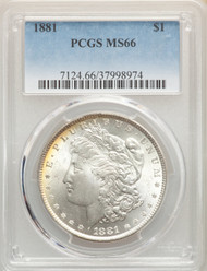 1881 S$1 Morgan Dollar PCGS MS66 - 298501114