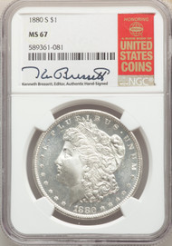 1880-S S$1 Morgan Dollar NGC MS67 - 742122001