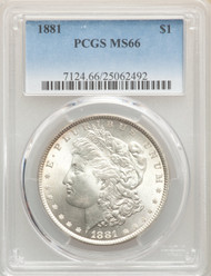 1881 S$1 Morgan Dollar PCGS MS66 - 742423021