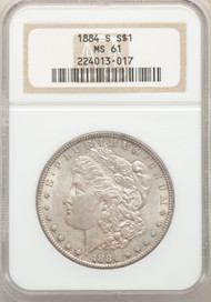 1884-S S$1 Morgan Dollar NGC MS61 - 298639010