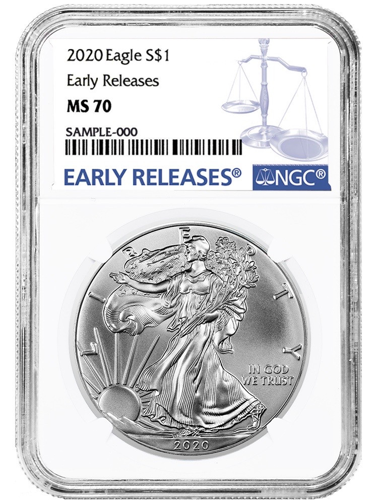 NGC PF70 UCAM Early Releases Star Label 2018-W American Silver Eagle Proof