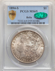 1894-S S$1 Morgan Dollar PCGS MS65 CAC - 297465015