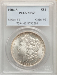 1904-S S$1 Morgan Dollar PCGS MS63 - 298643006