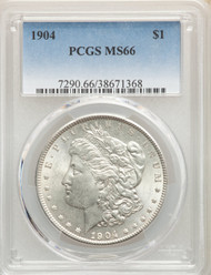 1904 S$1 Morgan Dollar PCGS MS66 - 298675014