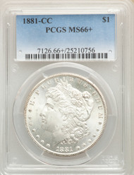 1881-CC S$1 Morgan Dollar PCGS MS66+ - 742353077