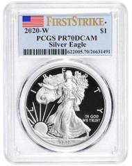 2020-W Proof Silver Eagle PCGS PR70 DCAM First Strike