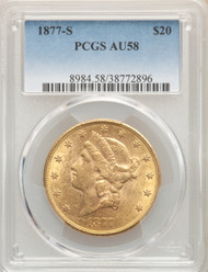 1877-s - $20 - Liberty Double Eagles - Pcgs - 58