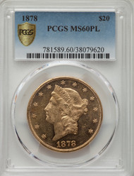 1878 - $20 - Liberty Double Eagles - Pcgs - 60