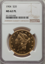 1904 - $20 - Liberty Double Eagles - Ngc - 62