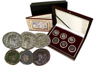 The Fracture of Imperial Rome: Gallic Empire, a Box of 6 Silver Coins