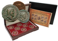 The Fracture of Imperial Rome: Gallic Empire, a Box of 8 Bronze Coins