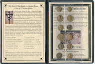 Rise of Christianity in Ancient Rome: 12 Bronze Coins Album