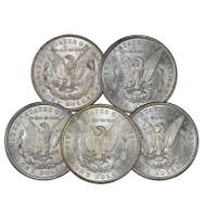 Morgan Dollar Mintmark Set Brilliant Uncirculated 5-Pc