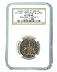 Admiral Gardner (1808) Shipwreck Treasure 10 Cash NGC (Medium grade)