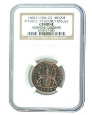 Admiral Gardner (1808) Shipwreck Treasure 10 Cash NGC (Medium grade)